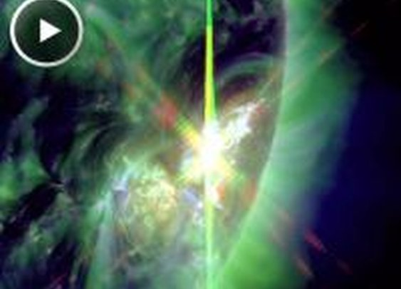 Big Sunspot Unleashes X-flare on July 6th and still affecting Earth