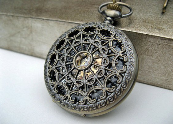 Antique Bronze Pocket Watch