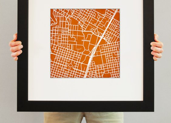 The University of Texas at Austin | City Prints Map Art