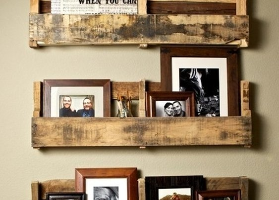Wood Pallet Bookshelves