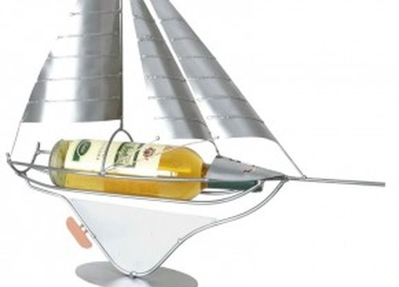 Sailboat Wine Bottle Holder - Metal Imagination