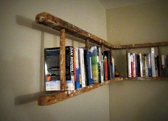 Opened Ladder Bookshelf