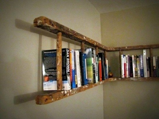 Opened Ladder Bookshelf