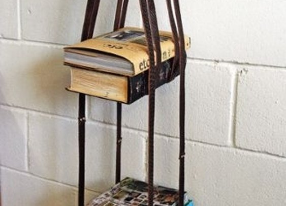 Leather Harness Bookshelf