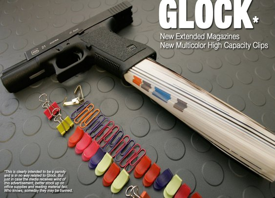 Glock With Extended Clips & High Capacity Magazine
