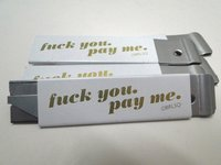 F You. Pay Me. Boxcutter