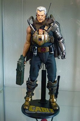 Super Punch: Cable with Baby Hope and more custom figures