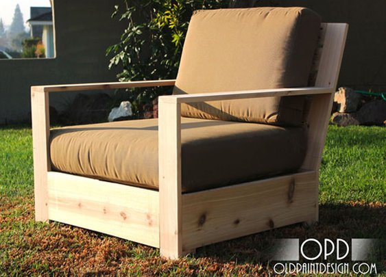 DIY Modern Minimal Outdoor Chairs