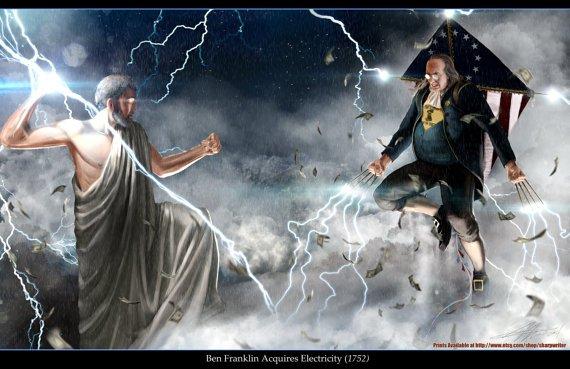 Ben Franklin vs Zeus