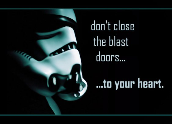Don't close the blast doors...