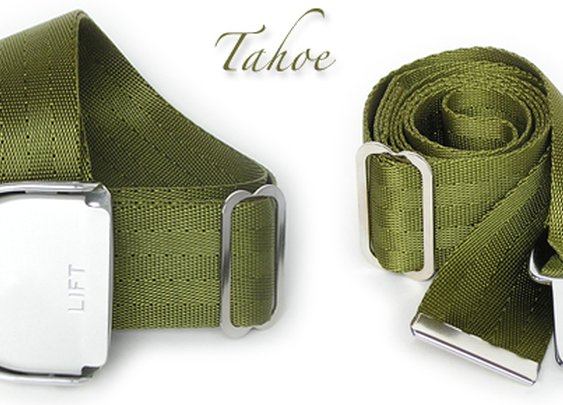 SkyBelts: Olive Drab Aircraft Seatbelt Buckle Belt