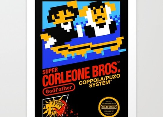 Super Corleone Bros Art Print by Aaron A. Fimister | Society6