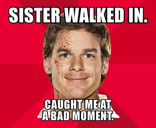 'Dexter' unveils witty Comic-Con memes for season 7 | Inside TV | EW.com