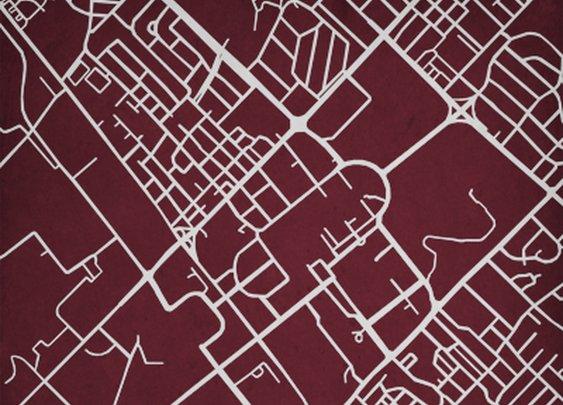 Texas A&M University | City Prints Map Art