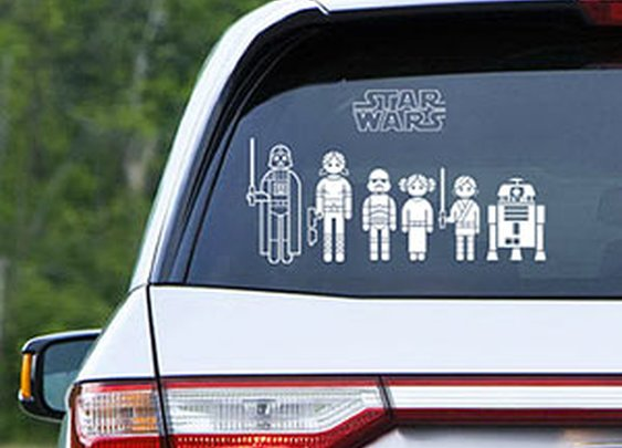 ThinkGeek :: Star Wars Family Car Decals