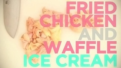 How to: Make Fried Chicken and Waffle Ice Cream