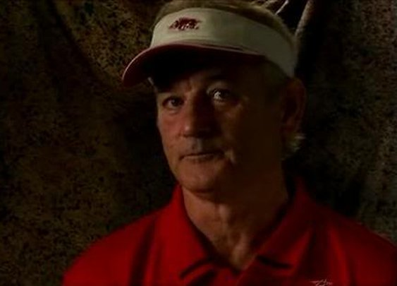 Bill Murray in a Razorback Visor