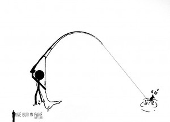 Fly Fishing Stick Figures