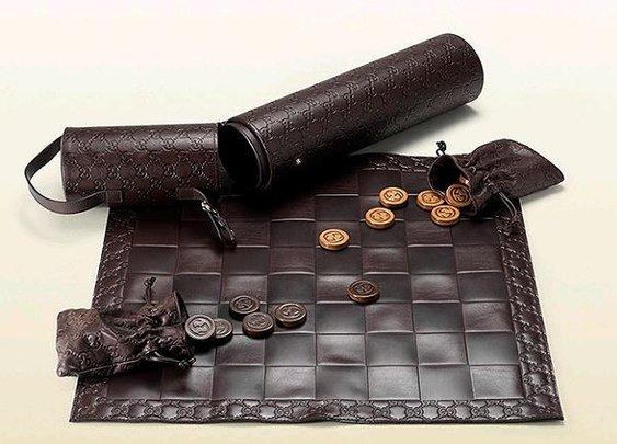 Leather Gucci Checker Set