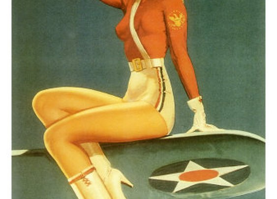 Army Air Force Pin Up Girl
