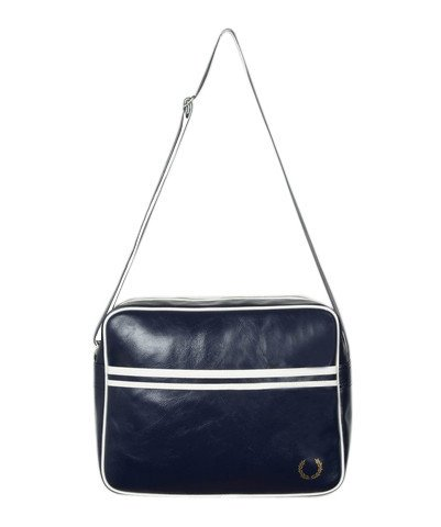 Fred Perry Shoulder Bag - Navy & White