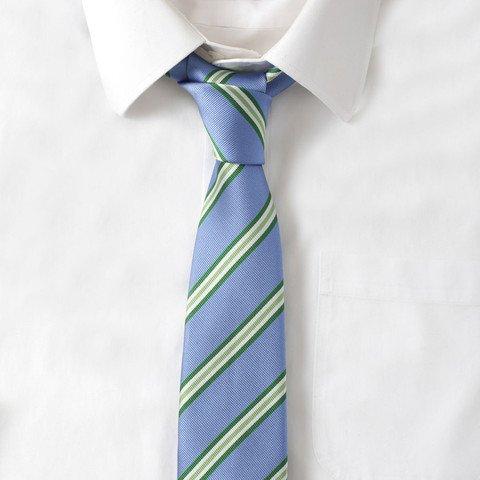 Silk Blue & Green Stripe Tie