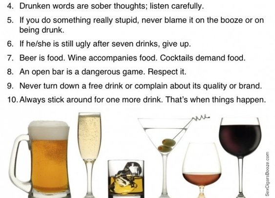 Rules to Drink