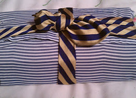 Boxing The Compass: Urban Practicality: Old Shirts and Tie = Wrapping Paper