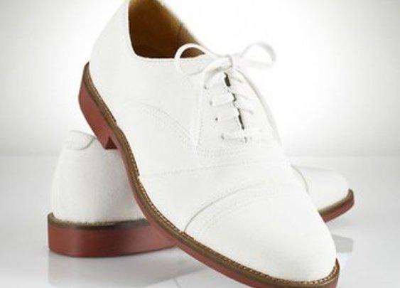 Ralph Lauren Olympic White Nubuck Oxford Shoes