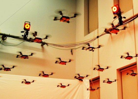UPenn's GRASP lab unleashes a swarm of Nano Quadrotors