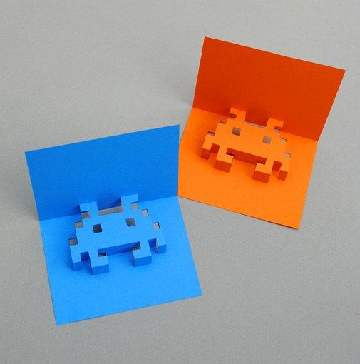 8-bit popup cards | Mini-eco