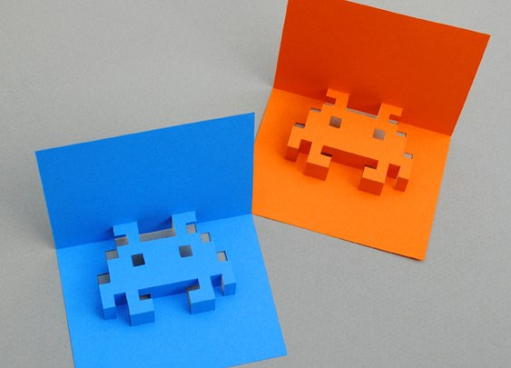 8-bit popup cards | Mini-eco