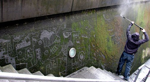 Pressure Washed Street Art by Strook | Colossal