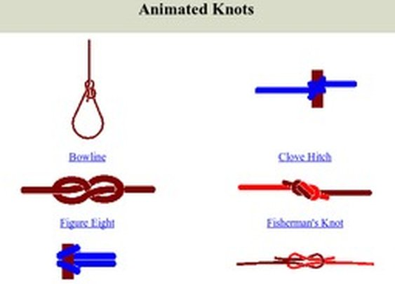 Animated Knots: Learn Popular Outdoor Knots With The Help Of The North Woods Field Guides - StumbleUpon