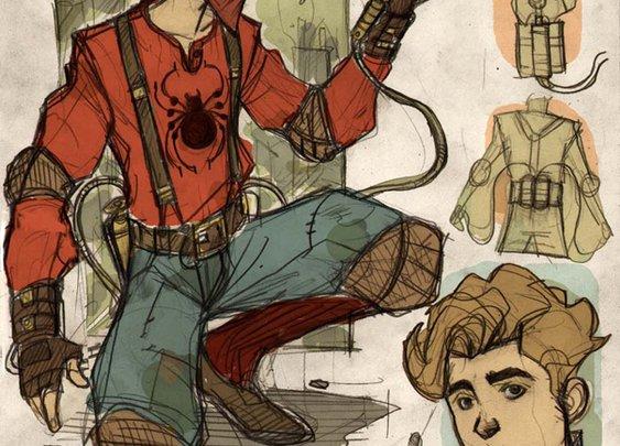 Awesome Robo!: Denis Medri's Steampunk Spiderman