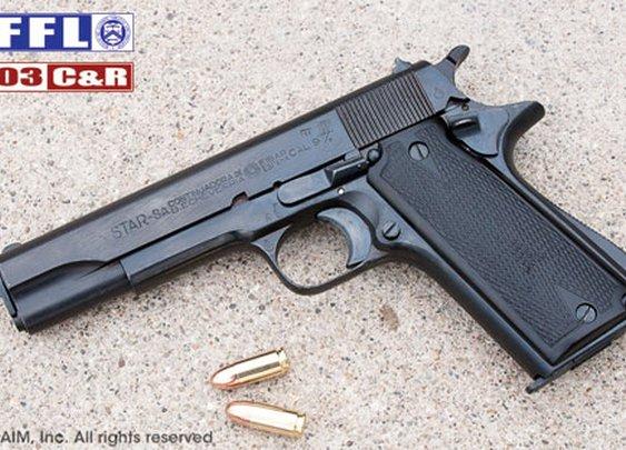 WWII Spanish Star Model B 9mm Pistol