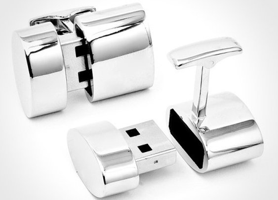 Cuff links with USB ports and storage - I Want