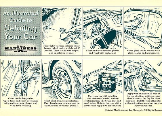 An Illustrated Guide to Detailing Your Car | The Art of Manliness