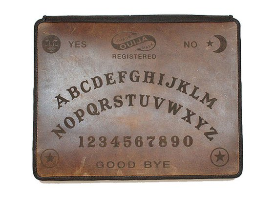 Apple iPad Leather Book Cover Case  Ouija by joevleather on Etsy