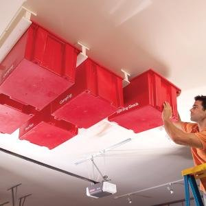 How To: Sliding Storage System on the Garage Ceiling