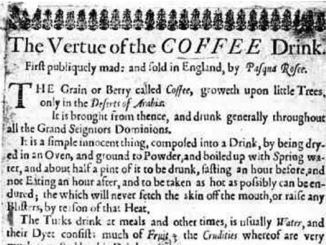 This Is the First Ever Ad For Coffee, From 1652 - Business Insider