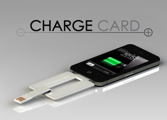 ChargeCard for iPhone and Android  - Gentlemint
