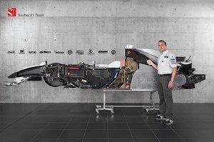Sauber cuts the BMW Sauber F1.08 in half   The Formula 1 Blog