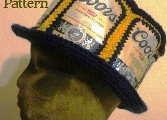 Recycled Beer Can or Soda Can Hat Pattern