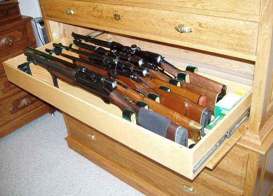 Wooden Gun Chest