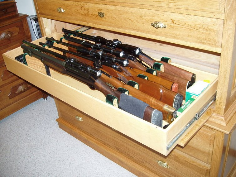 Wooden Gun Chest