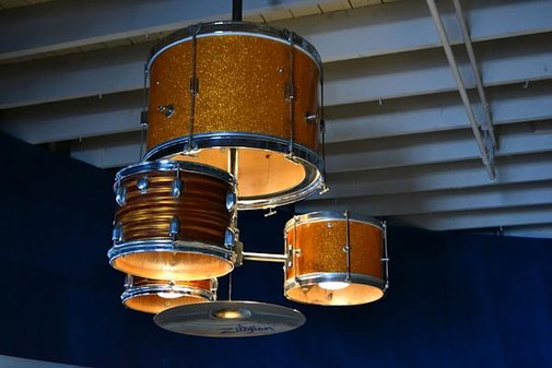 DIY Drum Kit Chandelier | Bored Panda