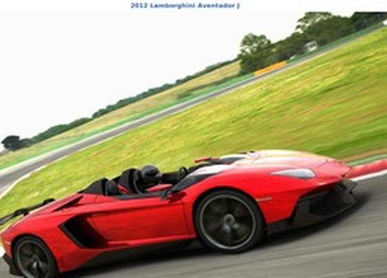 2012 Lamborghini Aventador J - Front Side - StumbleUpon