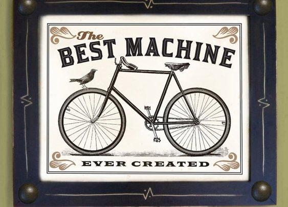 Bicycle Art Print Vintage Black and White by Artformen on Etsy