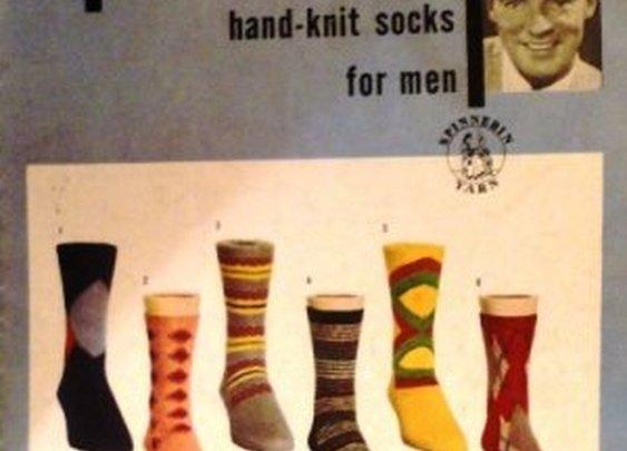 Vintage Knitting Pattern Hand Knit Socks For Men Spinnerin Volume 114
